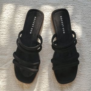 vegan strappy open toe boho flat slide sandals